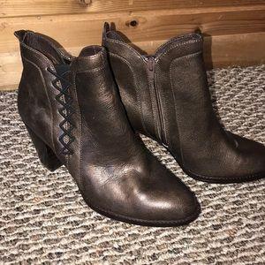 Metallic bronze boots